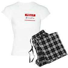 Kristin, Name Tag Sticker Pajamas