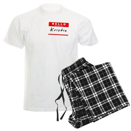 Kristin, Name Tag Sticker Men's Light Pajamas