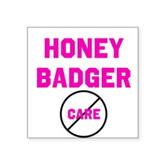 Fearless Honey Badgers Square Sticker 3