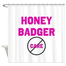 Fearless Honey Badgers Shower Curtain