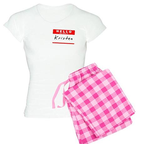 Kristen, Name Tag Sticker Women's Light Pajamas