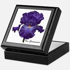 Purple Bearded Iris Keepsake Box