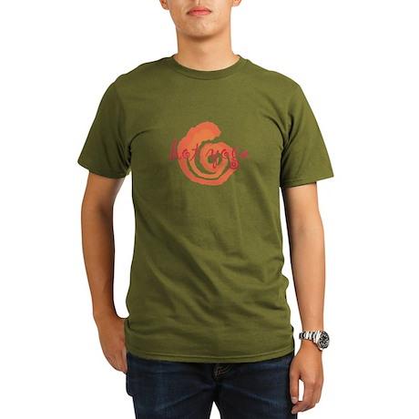 yoga swirls hot orange.png Organic Men's T-Shirt (