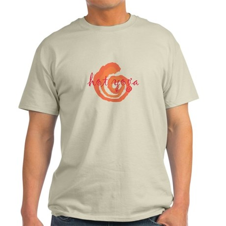 yoga swirls hot orange.png Light T-Shirt