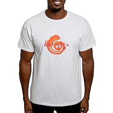 yoga swirls hot orange.png T-Shirt