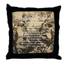 The Lords Prayer Vintage Throw Pillow