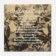 The Lords Prayer Vintage Tile Coaster