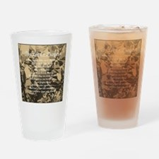 The Lords Prayer Vintage Drinking Glass