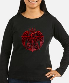 Raven Pentacle Red T-Shirt