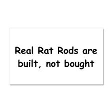 Real Rat Rod Are Built Not Bought Car Magnet 20 x