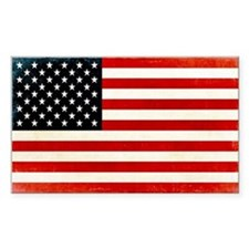 Vintage American Flag Stickers