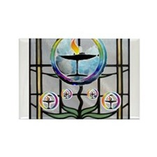 Unitarian 3 Rectangle Magnet (10 pack)