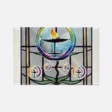 Unitarian 3 Rectangle Magnet (10 pack)
