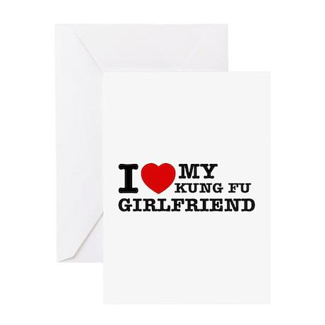 I love my Kung-fu Girlfriend Greeting Card