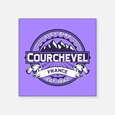 """Courchevel Violet Square Sticker 3"""" x 3"""""""