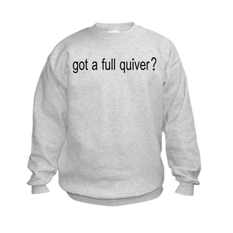 FULL QUIVER FRONT AND BACK DESIGNS Kids Sweatshirt