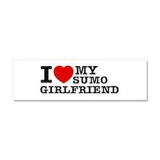 I love my Sumo Girlfriend Car Magnet 10 x 3