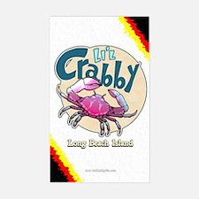 Li'l Crabby... Sticker (Rectangle)