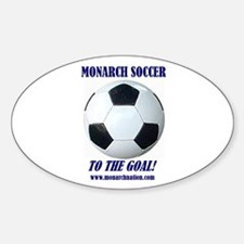 Monarch Soccer Oval Decal