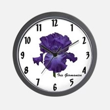 Purple Bearded Iris Clock