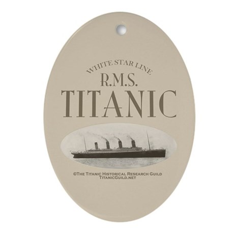 RMS Titanic Ornament (Oval)