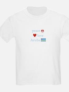 Peace, Love and Aruba T-Shirt