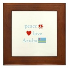 Peace, Love and Aruba Framed Tile