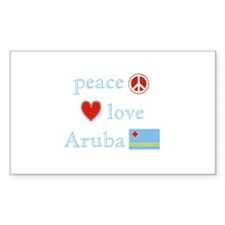 Peace, Love and Aruba Decal