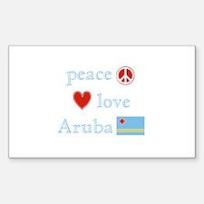Peace, Love and Aruba Decal