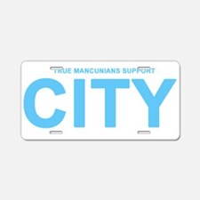 True Mancunians Support City Aluminum License Plat