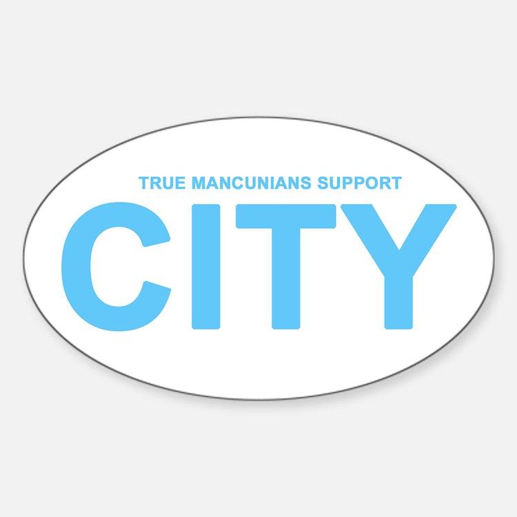 True Mancunians Support City Decal