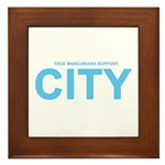 True Mancunians Support City Framed Tile