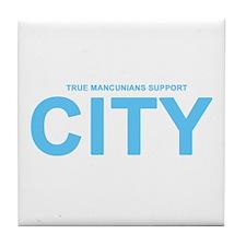 True Mancunians Support City Tile Coaster