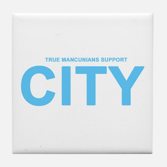 True Mancunians Support City Tile Coaster