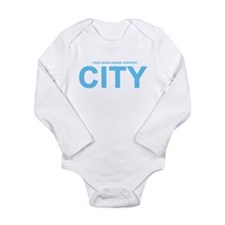 True Mancunians Support City Long Sleeve Infant Bo