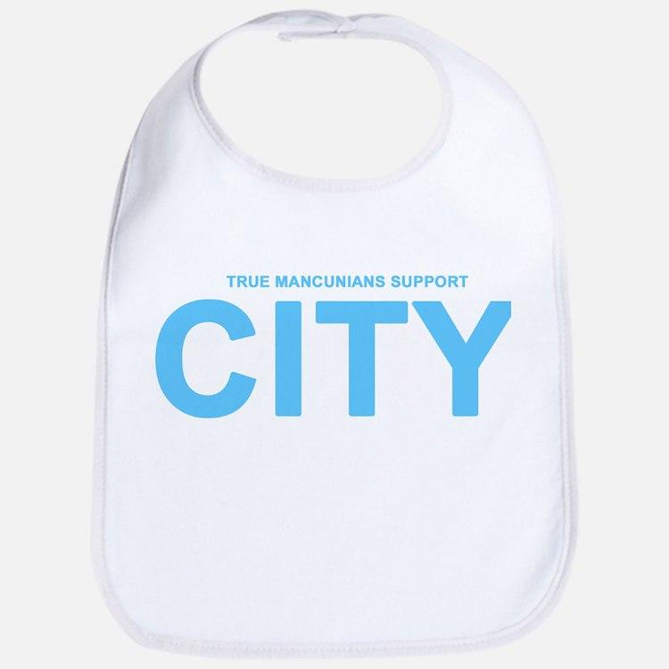 True Mancunians Support City Bib