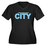 True Mancunians Support City Women's Plus Size V-N