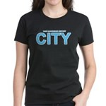 True Mancunians Support City Women's Dark T-Shirt