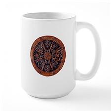 Wheel of the Year wood Mug