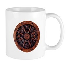 Wheel of the Year wood Mug