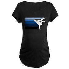 Break lines blu/wht T-Shirt
