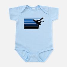 Break lines blu blk Infant Bodysuit