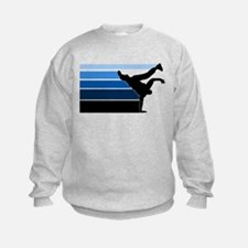 Break lines blu blk Sweatshirt