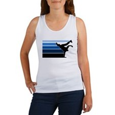 Break lines blu blk Women's Tank Top
