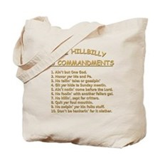 The Hillbilly 10 Commandments Tote Bag