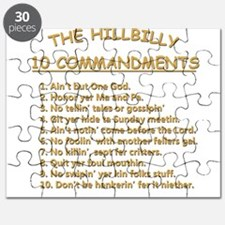 The Hillbilly 10 Commandments Puzzle