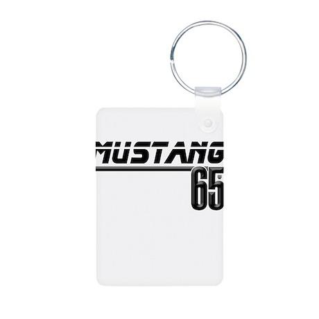 MUSTANG 65 Aluminum Photo Keychain