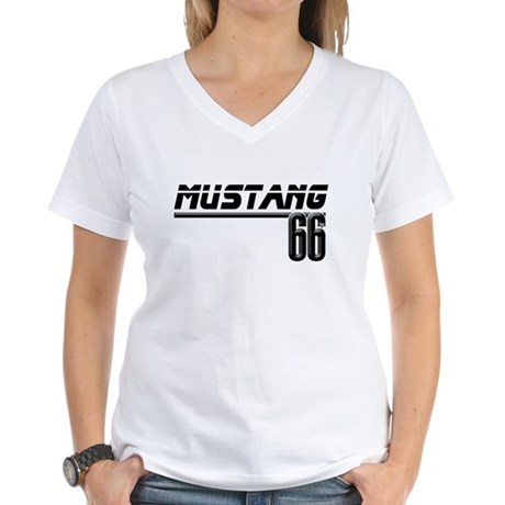 MUSTQANG 66 Women's V-Neck T-Shirt