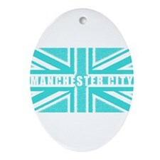 Manchester City Union Jack Ornament (Oval)