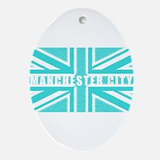 Manchester City Union Jack Ornament (Oval)